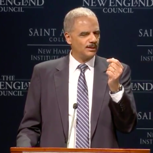 """Holder in New Hampshire: """"Trump Uses Race As A Wedge Issue"""""""