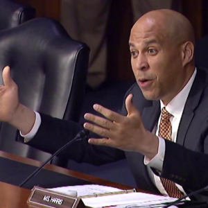 Cory Booker Joins Kamala Harris in Questioning Religious Faith of Nominees