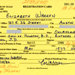 Will a Hand-Written Note From the 1980s End Elizabeth Warren's Campaign?