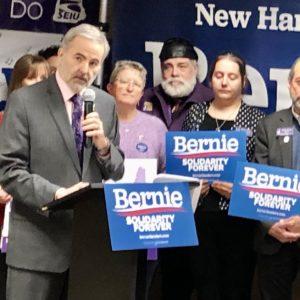 NH SEIU Breaks With National Union to Give Bernie A Big Boost in Granite State