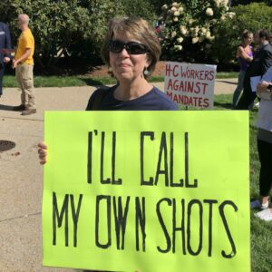In Their Own Words: Anti-Vax-Mandate Protesters Speak Out at Statehouse Rally